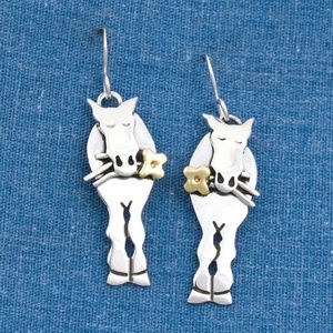 Jewelry - Picked For You Brass and Silver Earrings